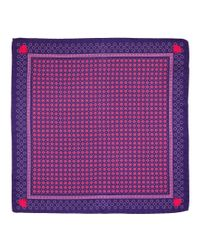 Versace | Red Men's Silk Pocket Square for Men | Lyst