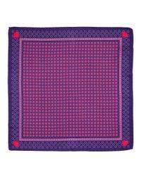 Versace - Red Men's Silk Pocket Square for Men - Lyst
