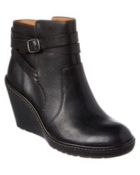 Söfft | Black Caralee Leather Ankle Boot | Lyst