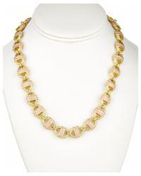 Fornash - Metallic 'basket' Plated Enamel Necklace - Lyst