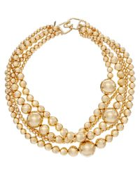 Kenneth Jay Lane - Multicolor 22k Plated Beaded Station Necklace - Lyst