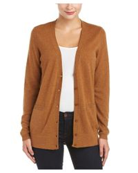 Magaschoni   Brown Cashmere Button-down Cardigan   Lyst