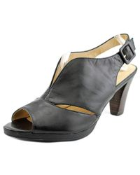 Bella Vita | Natural Leona W Open-toe Leather Slingback Sandal | Lyst
