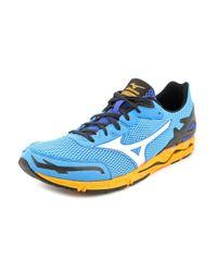 Mizuno   Wave Musha 5 Men Round Toe Synthetic Blue Running Shoe for Men   Lyst
