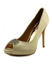 Badgley Mischka | Tory Women Open-toe Canvas White Heels | Lyst