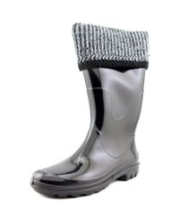 Kamik - Lancaster Women Round Toe Synthetic Black Rain Boot - Lyst