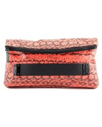 Vince Camuto | Orange Essy Clutch Women Snakeskin Clutch | Lyst