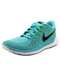 Nike | Blue Free 5.0 Round Toe Synthetic Running Shoe | Lyst