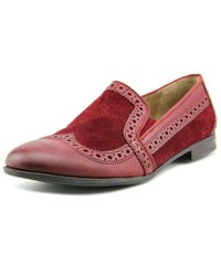 Franco Sarto | Red Tibby Women Wingtip Toe Leather Burgundy Loafer | Lyst