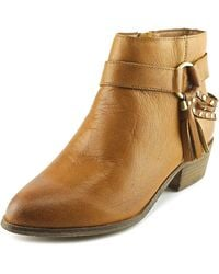 Chinese Laundry | Brown Seasons Women Round Toe Leather Ankle Boot | Lyst