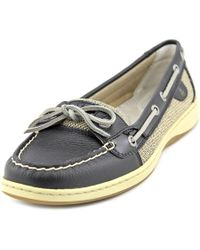Sperry Top-Sider | Black Sperry Top Sider Angelfish Moc Toe Leather Boat Shoe | Lyst