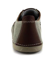 Clarks - Neelix Vibe Men Round Toe Canvas Green Sneakers for Men - Lyst