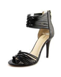 Nine West   Dechico Women Open Toe Synthetic Black Sandals   Lyst