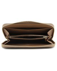 Tory Burch - Brown Robinson Zip Continental Wallet Women Leather Wallet Nwt - Lyst