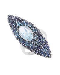 Alexis Bittar | Metallic Women's Drama Oxidized Sterling Silver & Multi Gem Ring Size 5.5 | Lyst
