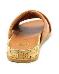 Stuart Weitzman - Multicolor Spa Open Toe Leather Slides Sandal - Lyst