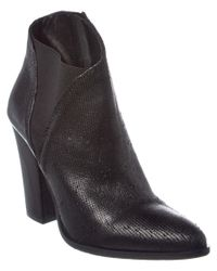 Charles David | Black Charla Leather Bootie | Lyst