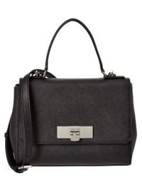 MICHAEL Michael Kors | Black Callie Small Saffiano Leather Messenger | Lyst