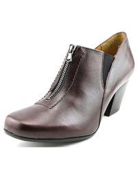 Fidji | Black L716 Round Toe Leather Heels | Lyst