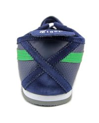 Asics - Blue Mexico 66 Round Toe Leather Sneakers for Men - Lyst