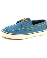 Sperry Top-Sider | Blue Sperry Top Sider Bahama Moc Toe Canvas Boat Shoe | Lyst
