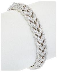 Nadri | Metallic Rhodium Plated Cz Woven Bracelet | Lyst