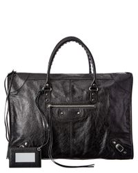 Balenciaga | Black Classic Metallic Edge Mini City Leather Tote | Lyst
