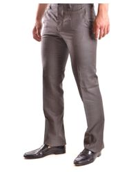John Galliano - Men's Brown Wool Pants for Men - Lyst