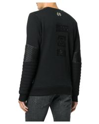 Philipp Plein - Men's Black Polyurethane Sweatshirt for Men - Lyst