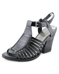 Very Volatile - Black Route Open Toe Leather Sandals - Lyst