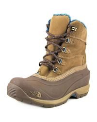 The North Face | Chilkat Iii Women Round Toe Suede Brown Snow Boot | Lyst