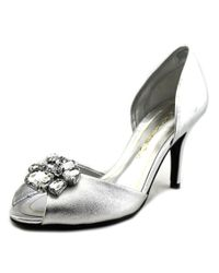 Caparros | Metallic Veranda Peep-toe Synthetic Heels | Lyst
