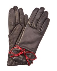 Grandoe - Black Sirena Women's Leather And Cashmere Blended Glove - Lyst