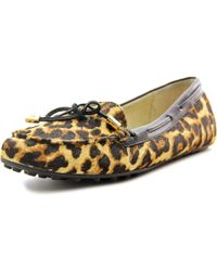 MICHAEL Michael Kors | Brown Daisy Moc Moc Toe Suede Loafer | Lyst