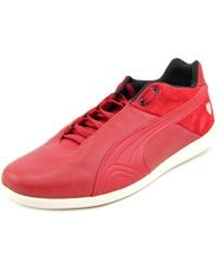 PUMA | Future Cat Sf Lifestyle 10 Men Round Toe Leather Red Sneakers for Men | Lyst