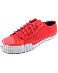 PF Flyers | Red Center Lo Round Toe Canvas Sneakers for Men | Lyst