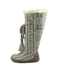 Muk Luks - Multicolor Grace Women Round Toe Canvas Winter Boot - Lyst