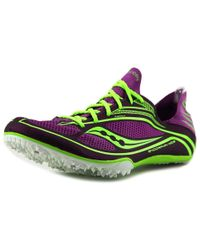 Saucony - Endorphin Md3 Women Round Toe Synthetic Purple Cleats - Lyst