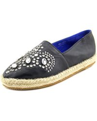 Jeffrey Campbell | Kori Women Round Toe Leather Black Espadrille | Lyst