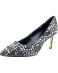 Elie Tahari | Black Destry Pointed Toe Canvas Heels | Lyst