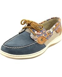 Sperry Top-Sider | Sperry Top Sider Bluefish Women Moc Toe Leather Blue Boat Shoe | Lyst
