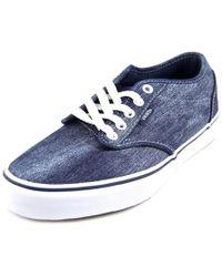 Vans | Atwood Men Round Toe Canvas Blue Skate Shoe for Men | Lyst