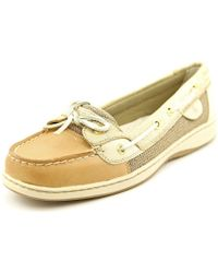 Sperry Top-Sider | Metallic Sperry Top Sider Angelfish Moc Toe Leather Boat Shoe | Lyst
