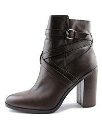 Vince Camuto - Gray Gravell Round Toe Leather Ankle Boot - Lyst
