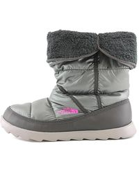 The North Face - Gray Amore Ii Round Toe Synthetic Snow Boot - Lyst