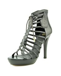 Viktor & Rolf - Black Paige Open Toe Leather Platform Heel - Lyst