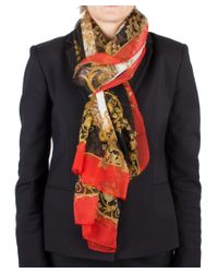 Versace - White Women's Baroque Pattern Silk Scarf Large - Lyst