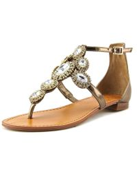 Vince Camuto | Metallic Manelle Open Toe Leather Sandals | Lyst