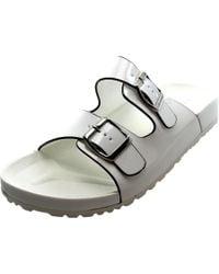 Report | White Jamm Open Toe Synthetic Slides Sandal | Lyst