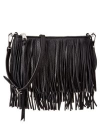 Rebecca Minkoff - Black Leather Finn Crossbody Bag - Lyst